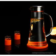 Cristal de primera calidad Juego de té Jarro de agua