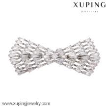 Mini broche color plata de lujo 00015-xuping, preciosas broches de boda para mujeres