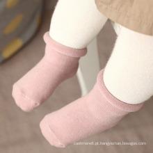 Meias de algodão antiderrapante bebê crianças (ka028)