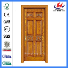 hk-006-Cs Red Oak Wood 6 Panel Solid Interior Door