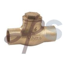 Válvula de retención de oscilación de soldadura de bronce de forja