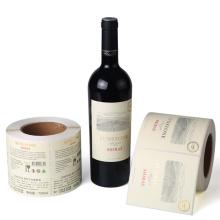 Etiqueta de botella de copa de vino impermeable adhesiva impresa personalizada