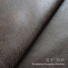 Compound Leather Polyester Nubuck Suede Fabric for Sofa
