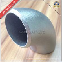 Codo de soldadura de extremo a 90 grados de acero inoxidable (YZF-PZ149)