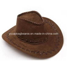 Модная кожаная ковбойская шляпа Fedora