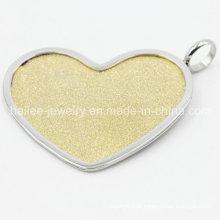 Aço inoxidável coração jóias pingente de moda para decoração