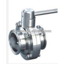 Good Quality Sanitary Stainless Steel Clamped Butterfly Valve