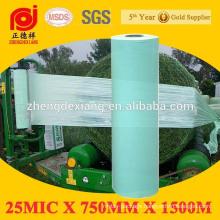 25mic 500mm 750m green silage bale wrap film