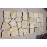 Cream limestone masonry stone decorative wall panel
