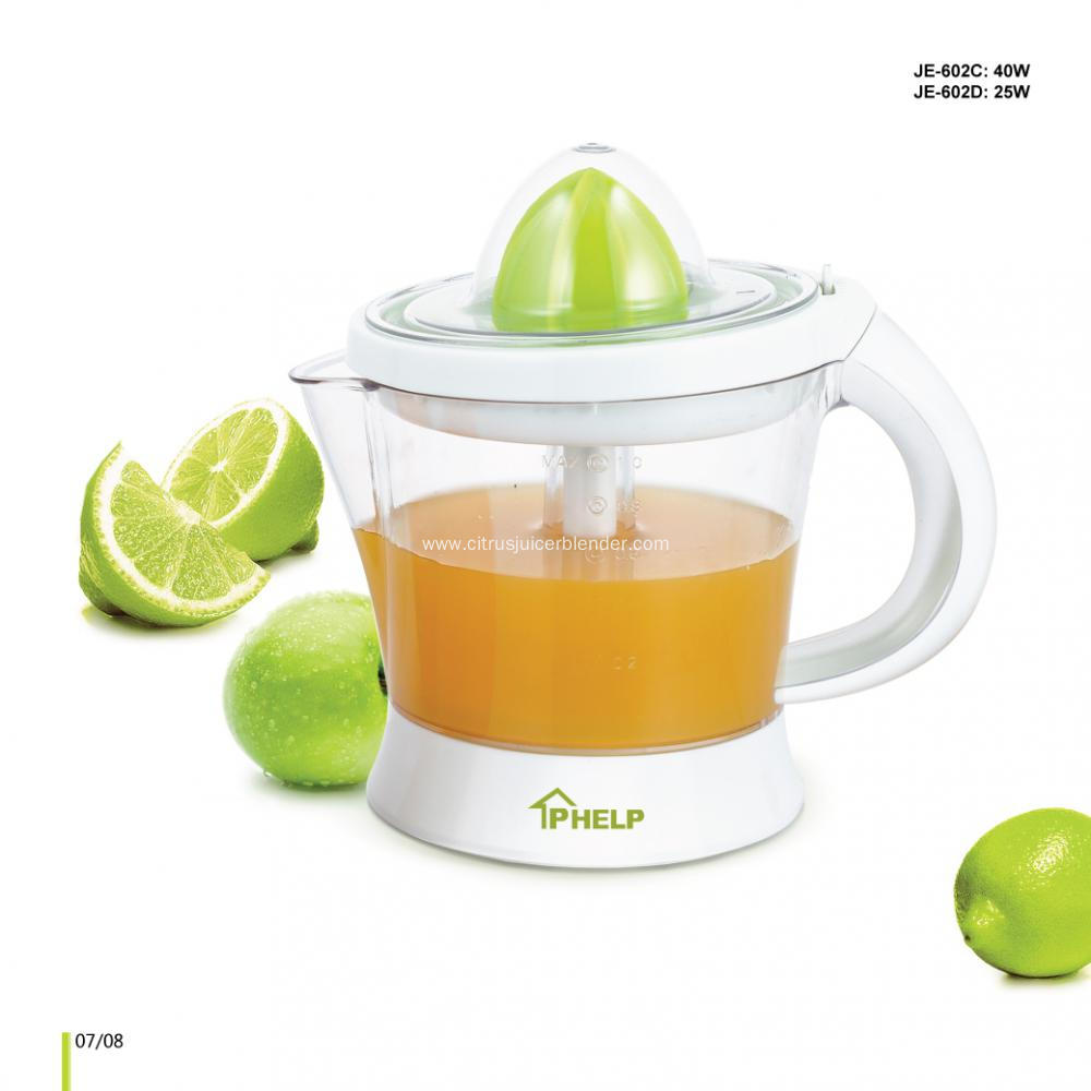 Citrus Juicer Product ~ L electric citrus juicer with connected handle plastic
