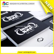 El papel de tipografía de barnizado levantó la tinta tarjetas de visita