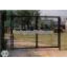 Galvanisiertes benutztes einzelnes oder doppeltes Schwingen Lowes Kettenglied-Zaun-Tor-Entwurf für Yard