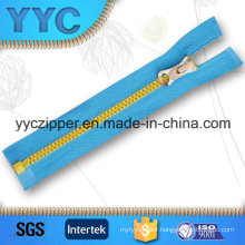 #5 Open End Zipper Plastic for Sportswear with Customized Slider