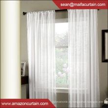 Linen Look Sheer Grommet Cortinas de ventana superior diseños ojales para cortinas