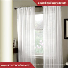 Liner Look Sheer Grommet Top Window Curtains dessine des oeillets pour rideaux