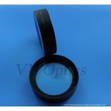 Lente esférica pegada óptica para la cámara subacuática con la capa negra