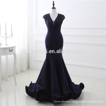 2017 Fashion Lady Wedding Evening Party Ballroom Formal Dress Women Backless V Neck Maxi Trumpet Mermaid Sexy Evening Dress