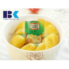 Boa hospitalidade de conservas de pêssego amarelo em calda