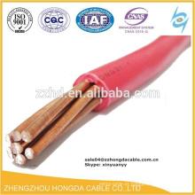 lv fio elétrico de cobre 2 4 6 8 10 15 25 35 mm2 fio de isolamento pvc / bv fio elétrico