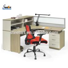 neueste Design 4 Personen Büroarbeitsplatz Partition