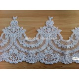 2015 new fashion style cording lace trimming for wedding dress