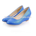 New spring/autumn flat women's wedge shoes solid color women's single shoes round toe swallow mouth mid heel women's pumps
