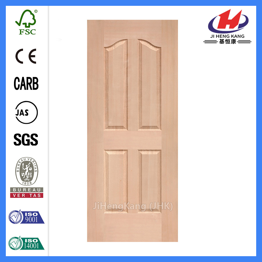 *JHK-004 4 Panel Internal Doors White 4 Panel Prefinished  Door White Interior Door Skin