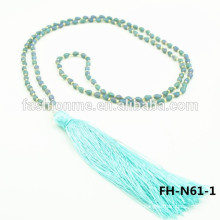 Collier gland longue perlée