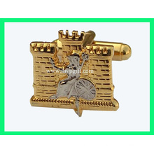 Gold Cufflink with Logo Engrave (m-CL03)