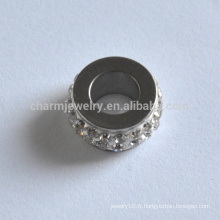 BXG024 Acier inoxydable Spacer Beads Jewelry Findings Nickel Free Jewelry-Making résultats trou perlé connecteur traversant