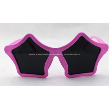 Sternform Fun Neuheit Party Sonnenbrille, Pink