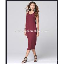 Wholesale Alibaba Express Kleider Sleeveless Sexy Tiefes V Zurück Tropical einteiliges Langes Kleid Frauen Casual