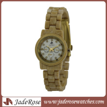 Hot Sell Plastic Band Lady Japan Movt Wrist Watch