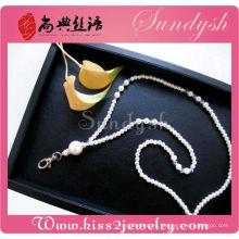 Cordón cristalino del grano de la perla de la manera de la joyería