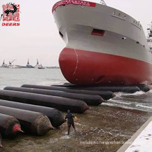 Durable rubber marine inflatable airbags for boat lifting and launching