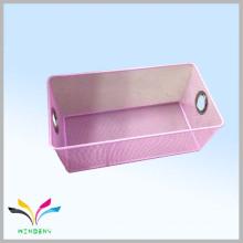 Дизайн мода треугольная металлическая сетка розовый корзина хранения для одежды