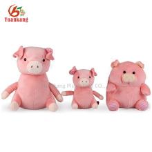 ICTI audited factory plush stuffed pig toy& soft pink pig