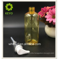 300ml Hot sale high quality make up packing yellow colored empty cosmetic plastic pump bottle