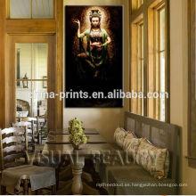 Ready to Hang to Wall Tailandia Religión Persona Pintura Decoración Artes