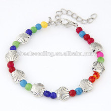 Vintage shell pearl stainless steel bracelet