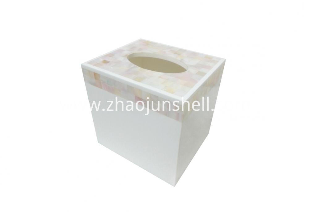 river shell square tissue box