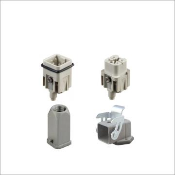 Conectores de servicio pesado de 400 V para mazos de cables industriales