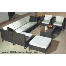 Sofa en rotin d'intérieur (6042)
