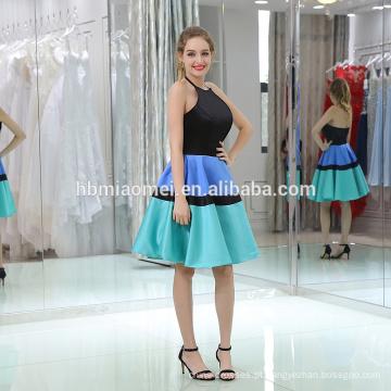 B046 últimas moda feminina curto frente longa volta vestido de noite
