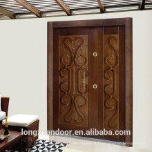Porte blindée personnalisée d'usine, portes en acier de style turquoise, porte de sécurité en acier populaire