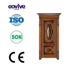 Diseño de puerta de entrada de madera sólida de alta calidad