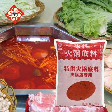 QinMa 1000g de salsa caliente desechable hotpot condimento