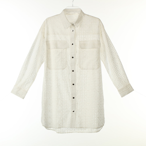 Cotton Long Shirts with Snap Button