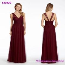 Vestido de noche sin respaldo largo clásico de los diseños de la manera al por mayor