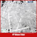 fibra pp para la resistencia al crack de hormigón